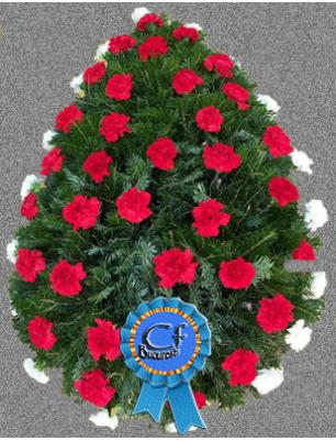 Coroana funerara Garoafe si Crizanteme