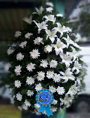 Coroana funerara Crizantema si Crin Imperial